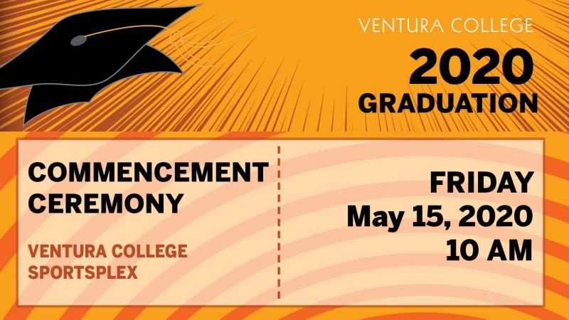 Graphic of 2020 Commencement Ceremony Dates, May 15, 2020 at