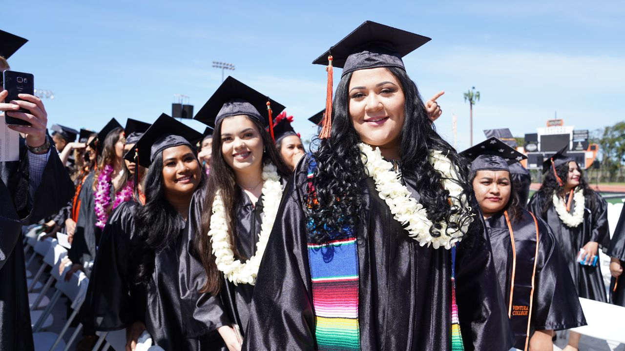 Smiling Ventura College Female Graduate