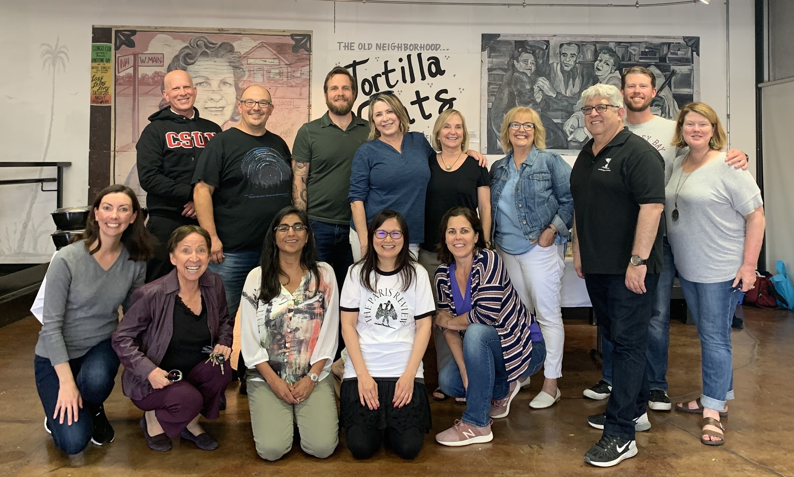 English instructors at 2019 Faculty Retreat