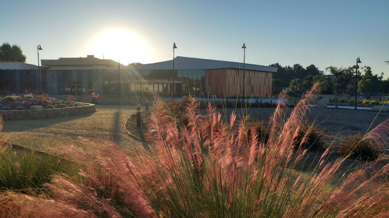 Sunrise view of Applied Science Center