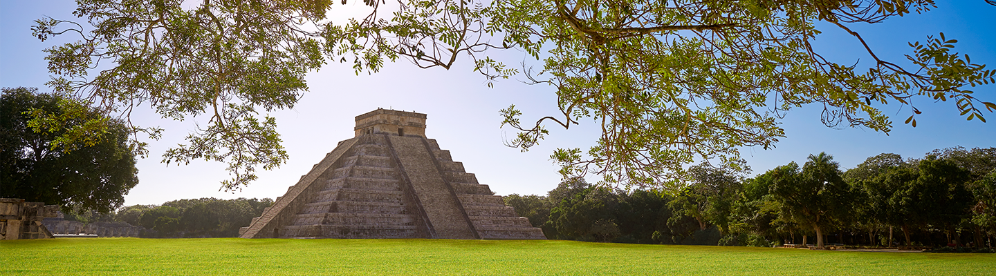 The Chichen Itza, a large pre-Columbian city built by the Maya people of the Terminal Classic period.
