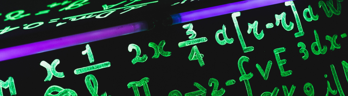 Mathematical equations on a screen.