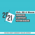 20-21, Oct. 29 at Noon, Graduation & Certificate Pet