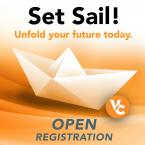 Set Sail! Unfold your future today. Open Registration. VC lo