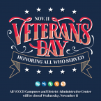 Nov. 11 Veterans Day Honoring All Who Served. All VCCCD camp