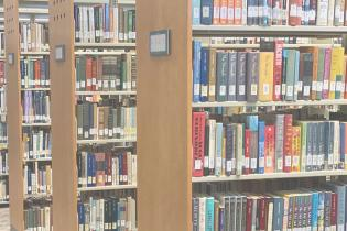 Library Search Background, text below reads: Library, and Learning Resources Services ranging from Library to Tutoring