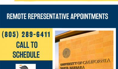 University Transfer Center Event: UC Santa Barbara Representative Remote Appointments, Call 805-289-6411 to schedule