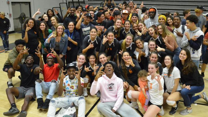 Pirates supporting Pirates, Ventura College Volleyball