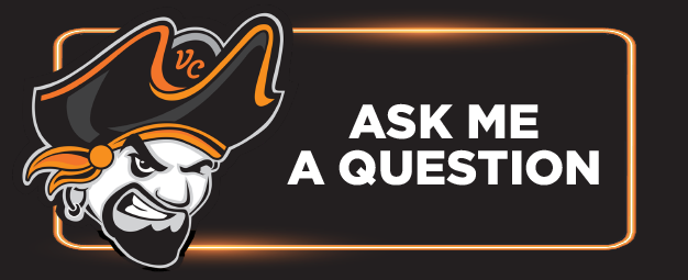 Ventura College Pirate saying Ask Me a Question